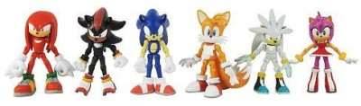 Jazwares Toys Sonic The Hedgehog Modern Exclusive 6 Pack