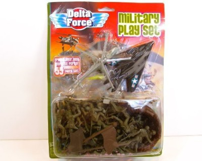 Imperial Toy Delta Force 55 Piece Military Play Set