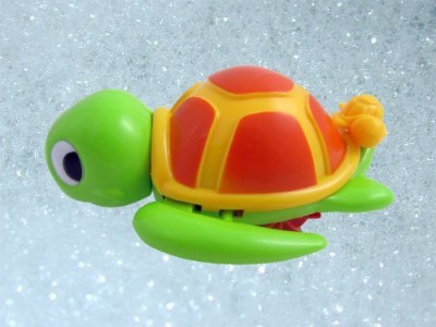 Liberty Imports Swimming Turtle Floating Bathtub Bath For Kids