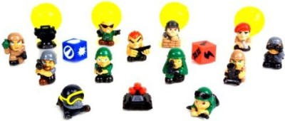 Squinkies Blip Boys Bubble Series 6 Commando Force (16 Piece)