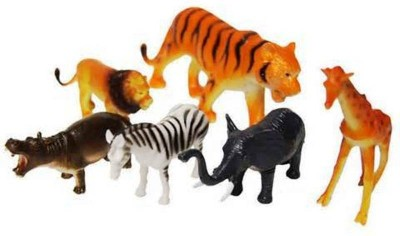 Globalgifts Set of 6 Wild Animals