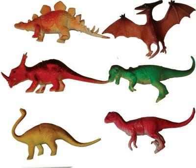 adiEstore Wild Republic Polybag Dinosaur Assorted Medium 6Pcs