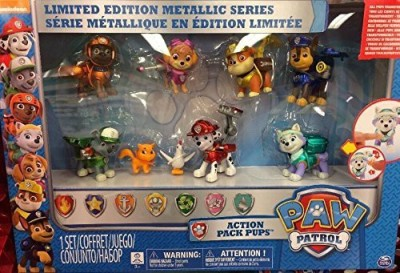 Spin Master Paw Patrol Limited Edition Pack Pup Metallic Series 9 Set