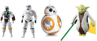 Emob Egg Force Star Wars Super Hero Action Figure Set(Storm Trooper, Boba Fett, Yoda & BB-81)