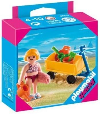 PLAYMOBIL Girl With Beach Wagon