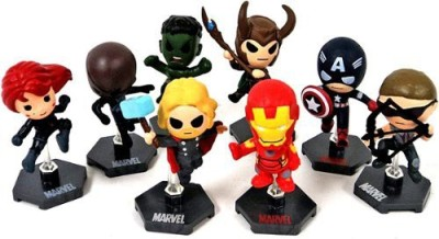 The Avengers Marvel Movie Set Of 8 Exclusive Grab Zagsincludes Iron Man