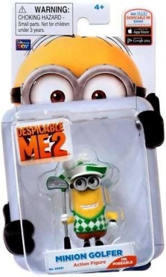 Thinkway Toys Despicable Me 2 Minion Golfer Poseable