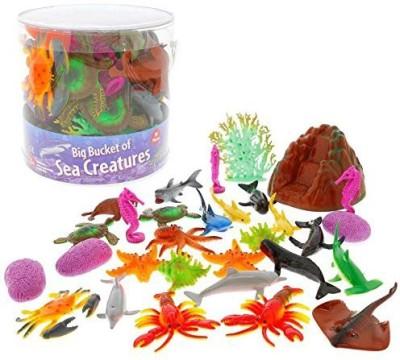 SCS Direct Ocean Sea Creature Big Bucket Of Sea Creatures Huge 30
