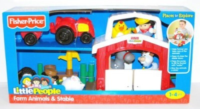 Little People Fisher Price Discovery Farm Animals & Stable Play Set