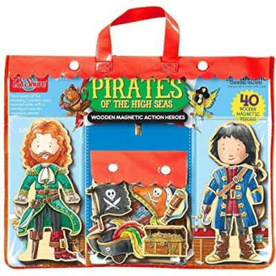 T.S. Shure Pirates Of The High Seas Wooden Magnetic Heroes