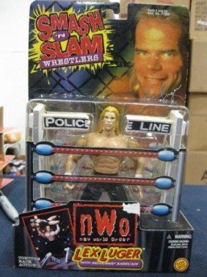 Toy Biz Lex Luger Nwo With Breakaway Barricade
