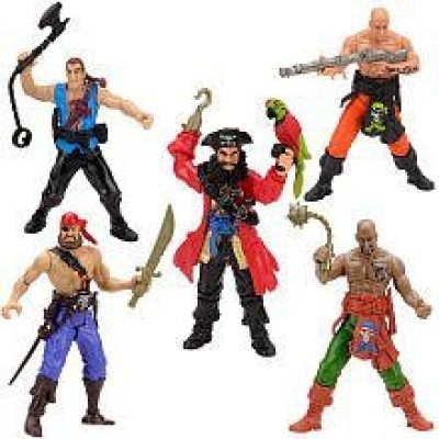 Toys R Us True Heroes 45Inch Pirate Crew With Blue Pirate Captain5