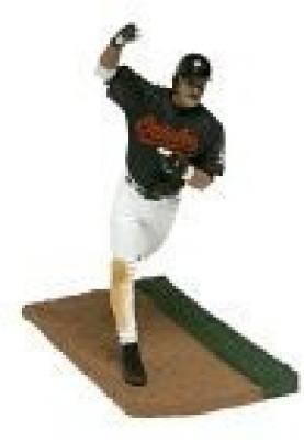 T M P Intl Mlb Series 10 Rafael Palmiero With Black Orioles Jersey