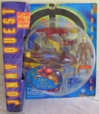 Galoob 1995 Jonny Quest Questworld Cyber Cycle Lights Up