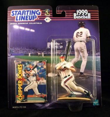 Starting Line Up Chipper Jones / Atlanta Braves 1999 Mlb Starting Lineup