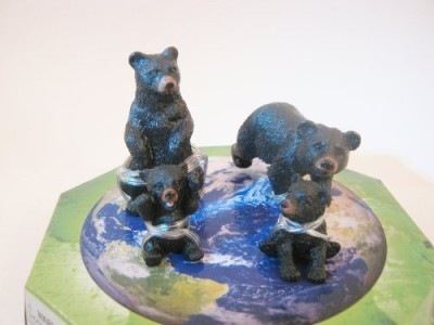 Wild Republic Eco Dome Bear Family Realistic 4 Piece Animal Set