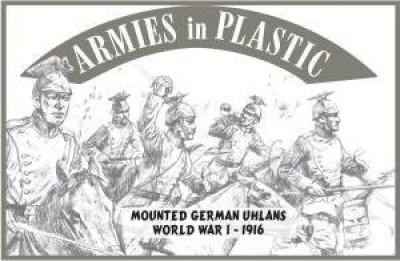 Armies in Plastic Wwi 1916 German Ulhans (5 Mounted) 1/32