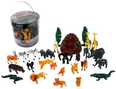 SCS Direct Wild Animal Safari Big Bucket Of Jungle Safari Animals