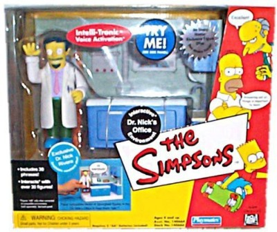 Playmates The Simpsons Interactive Dr Nick,S Office