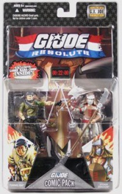 GI Joe Resolute Hasbro 25th Anniversary 3 3/4 Wave 8 Action Figures Comic Book 2Pack Tunnel Rat vs. Storm Shadow