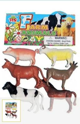 Rahul Toys 6 Pcs Farm Animals For Kids