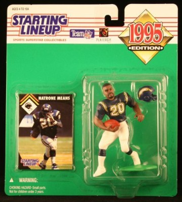 Starting Line Up Natrone Means / San Diego Chargers 1995 Nfl Starting