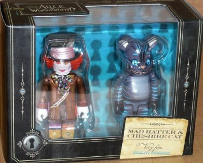 Medicom Alice In Wonderland: Mad Hatter Kubrick and Cheshire Cat Bearbrick Set