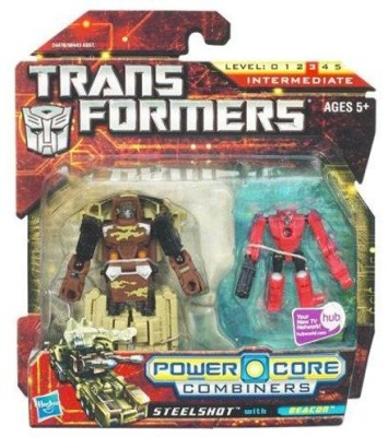 Transformers Power Core Combiners Steelshot With Beacon 2Pack