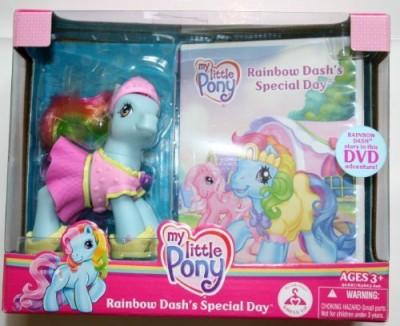 Hasbro My Little Pony Rainbow Dash,S Special Day Pony With Dvd