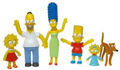 N.J. Croce Company The Simpsons Bendable-Poseable Limited Edition 6-Piece Collectible Set - Series 1