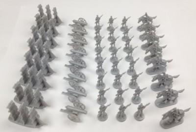 Morrison Games Napoleonic & Civil War Military Miniatures (Grey) Plastic