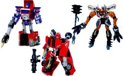 Montez Super Change Series Power Robot Convert Into Car, Dinosaur And Truck ( Large Size )