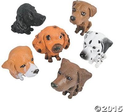Fun Express Plastic Big Head Puppies (1 Dz)