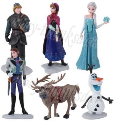 Toys&Games 6Pcs Frozen 6Cm10Cm Elsa Anna Kristoff Sven Olaf Pvc Set