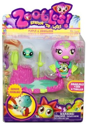 Spin Master Zoobles Mama Zoobling Squeaks #385 Tickles