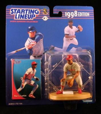 Starting Line Up Barry Larkin / Cincinnati Reds 1998 Mlb Starting Lineup
