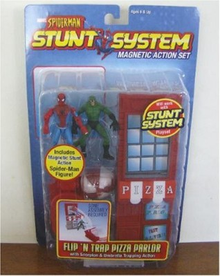 Toy Biz Marvel Spiderman Stunt System Magnetic Set Flip N, Trap