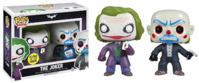 Funko Pop Heroes Glow In The Dark Bank Robber & Dark Knight