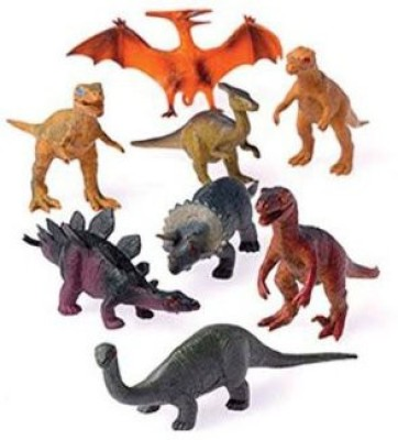 US Toy 12 Assorted Medium Sized Plastic Dinosaurs Play Set