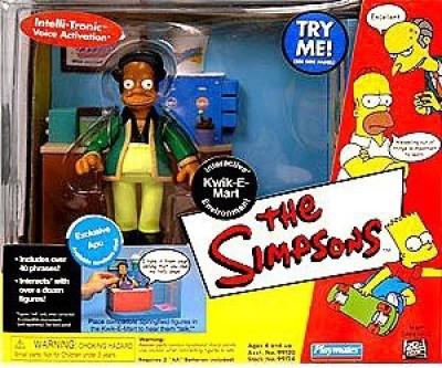 Playmates The Simpsons Interactive Kwikemart Exlusive Apu