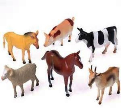 Globalgifts Set Of 6 Farm Animals