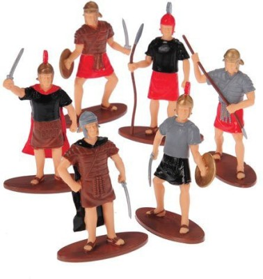 McToy Roman Empire Soldiersassorted Weapons & Positions 12X