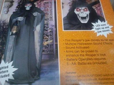 Spooky Creepy Animated 6 Ft Tall Bobble Head Grim Reaper