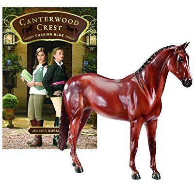 Breyer Canterwood Crest Chasing Blue Horse And Book Set