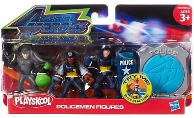 Playskool adventure heroes police men multi