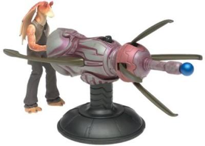 Star Wars Episode I Gungan Assault Cannon With Jar Jar Binks