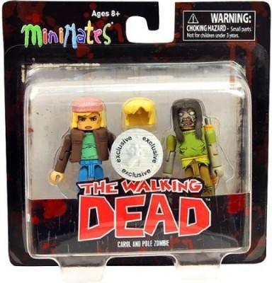 Walking Dead Minimates Series 3 Exclusive Mini 2Pack Carol & Pole Zombie