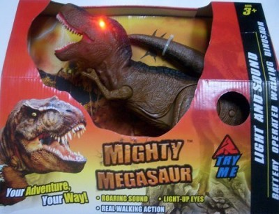 Adventure Wheels Megasaur Light and Sound Battery Operated Tyrannosaurus rex(Multicolor)