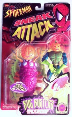 Spiderman Sneak Attack Bug Busters Jack O,Lantern And Bug Eye Buster