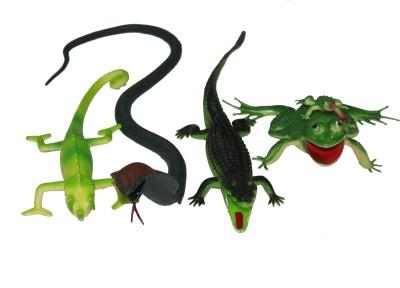 Scrazy Animal Kingdom Cobra,Lizard,Crocodile and Frog Set of-4